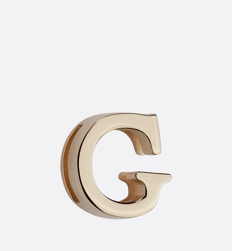 My ABCDior Letter 'G' Badge Front view