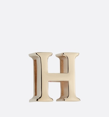 My ABCDior Letter 'H' Badge Front view