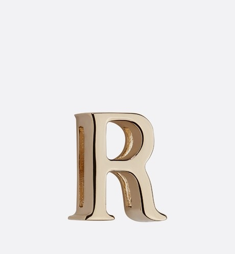 My ABCDior Letter 'R' Badge Front view