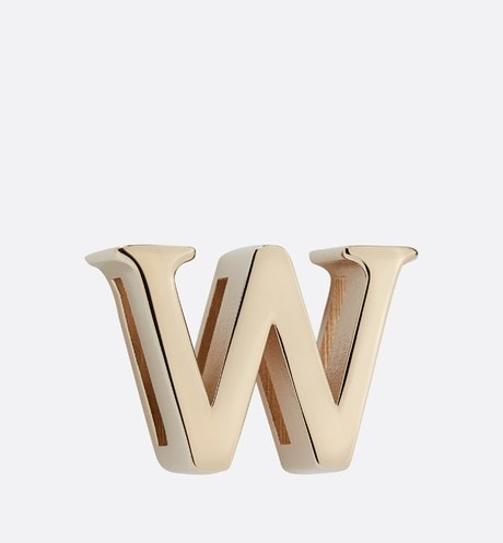 My ABCDior Letter 'W' Badge Front view