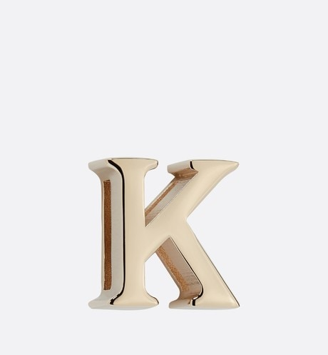 My ABCDior Letter 'K' Badge Front view