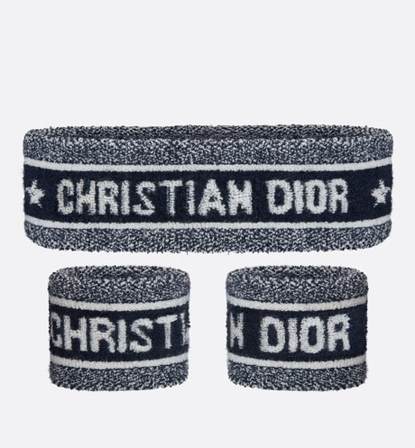 Set of Dior Sporty Head and Wrist Sweatbands Front view