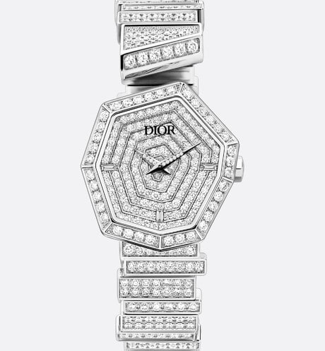 18K White Gold and Diamonds GEM DIOR Front view