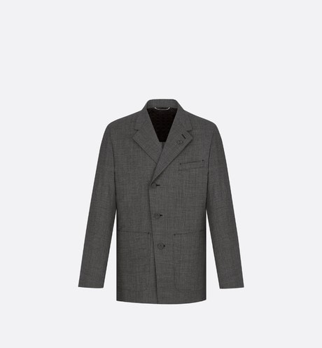 Micro-Houndstooth Workwear Jacket Front view
