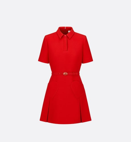 Dioramour Short Dress with Heart-Shaped Pockets Front view
