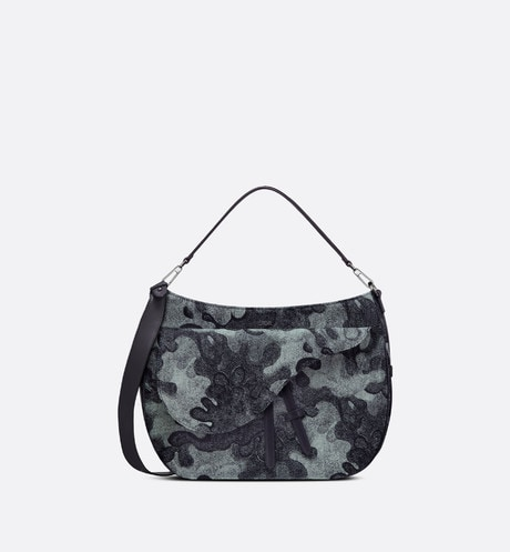 DIOR AND PETER DOIG Saddle Soft Bag Front view