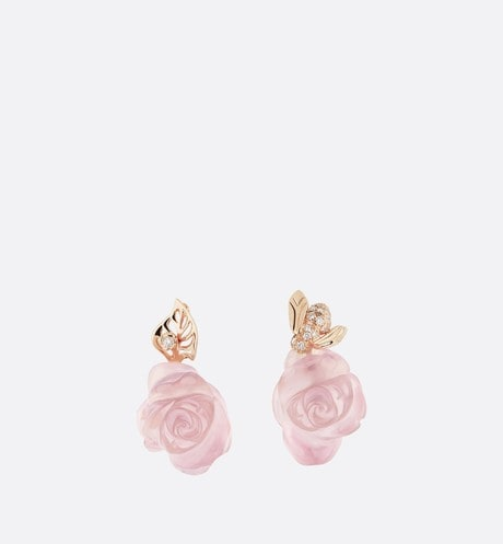 Rose Dior Pré Catelan Earrings Front view