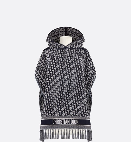 Dior Oblique Hooded Poncho Front view