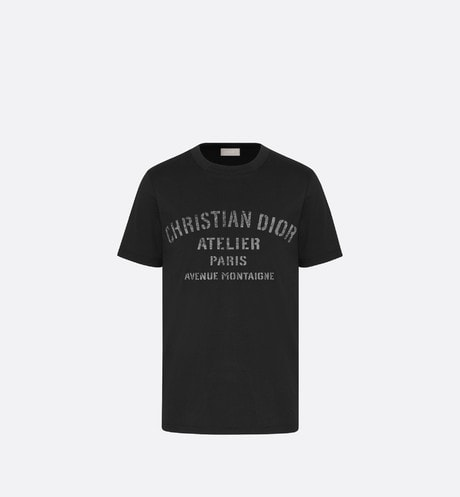 Oversized 'Christian Dior Atelier' T-Shirt Front view