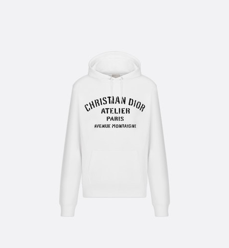 Oversized Christian Dior Atelier Hooded Sweatshirt Front view
