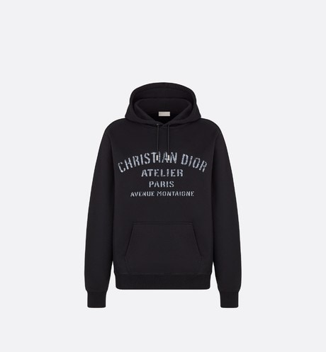 Oversized 'Christian Dior Atelier' Hooded Sweatshirt Front view