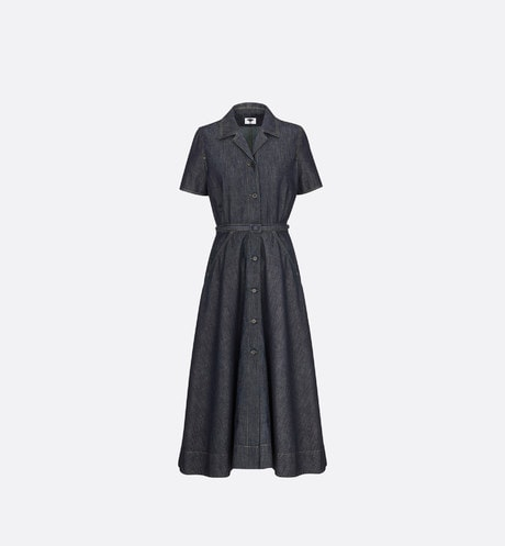 Mid-Length Short-Sleeved Dress Front view
