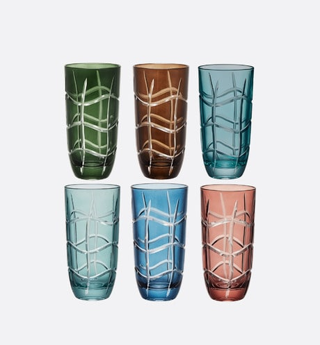 Set of Six Glasses Front view