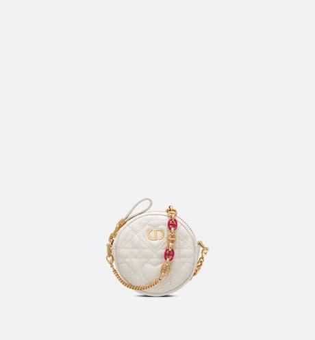 Mini Dioramour Dior Caro Round Pouch Front view