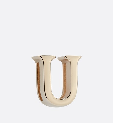 My ABCDior Letter 'U' Badge Front view