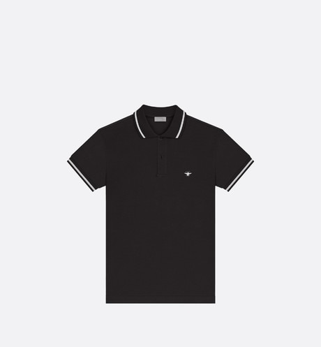 Polo Shirt with Bee Embroidery Front view