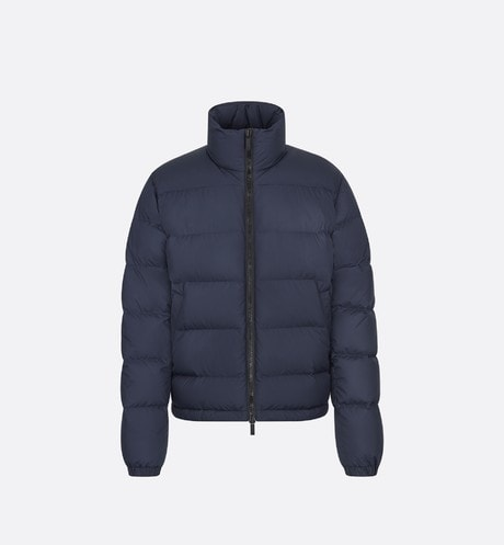 Navy Down Puffer Jacket front view