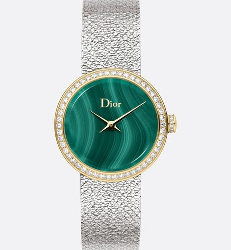 La D de Dior Satine ?25 mm, quartz movement front view