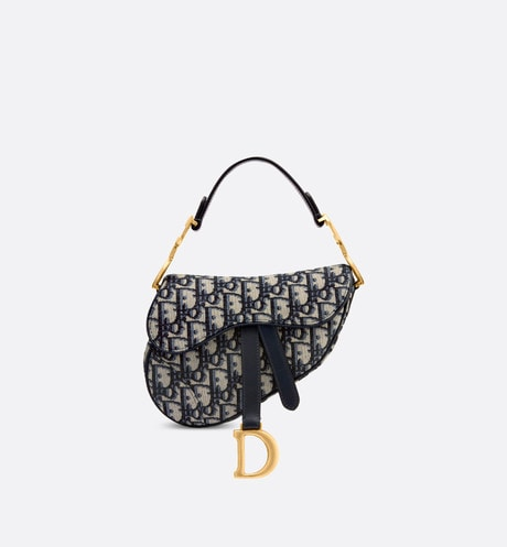 Mini Dior Oblique Saddle bag front view