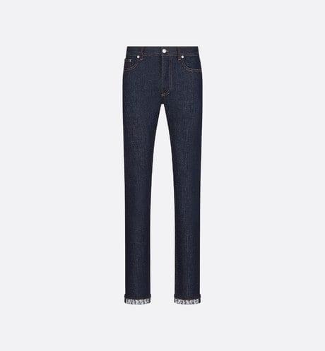 Slim-fit jeans met Dior Oblique-motief aria_frontView