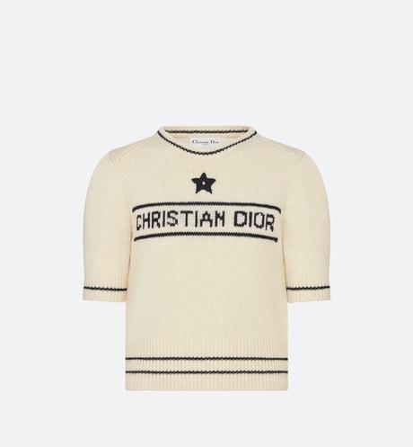 「CHRISTIAN DIOR」短袖毛線衫 aria_frontView